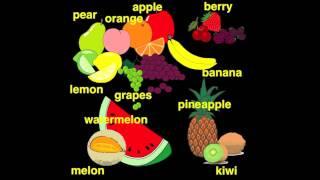 Lectia de engleza pentru copii-fructele