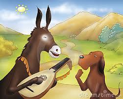 Fabula -Câinele şi măgarul